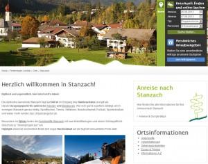 Stanzach Informationsbüro - Urlaubsregion Lechtal