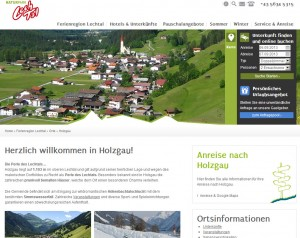 Holzgau Informationsbüro - Urlaubsregion Lechtal
