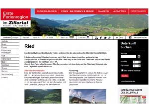 Ried im Zillertal - Erste Ferienregion im Zillertal