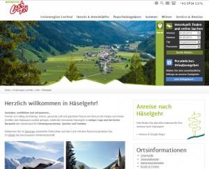 Urlaubsregion Häselgehr im Lechtal