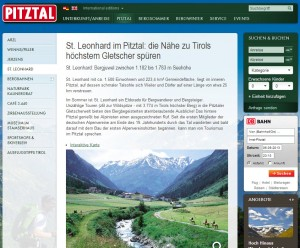 Sankt Leonhard im Pitztal Informationsbüro - Ferienregion Pitztal