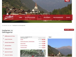 Hopfgarten im Defereggental Informationsbüro - Urlaubsregion Osttirol