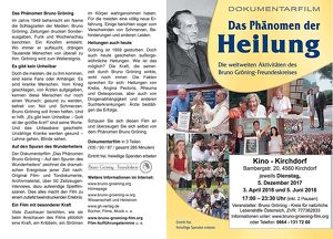 Eine Dokumentation über das Phänomen der Heilung – Die weltweiten Aktivitäten des Bruno Gröning-Freundeskreises.