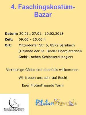 Faschingskostüm-Bazar der PfotenFreunde Voitsberg