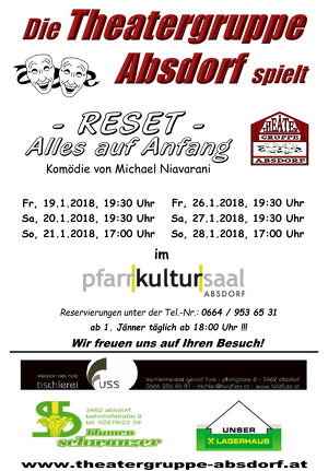 THEATER Absdorf 2018 | RESET - Alles auf Anfang