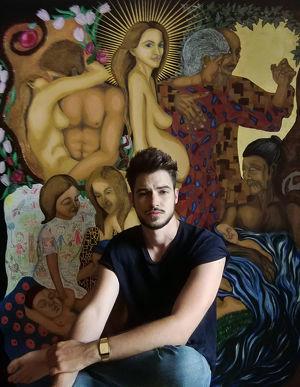 Vernissage der Ausstellung von Markus Haller im Kunstnetz Wien