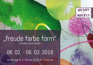 Vernissage Monika Maria Weiß - Freude Farbe Form