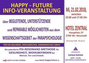 HAPPY - FUTURE INFO-VERANSTALTUNG