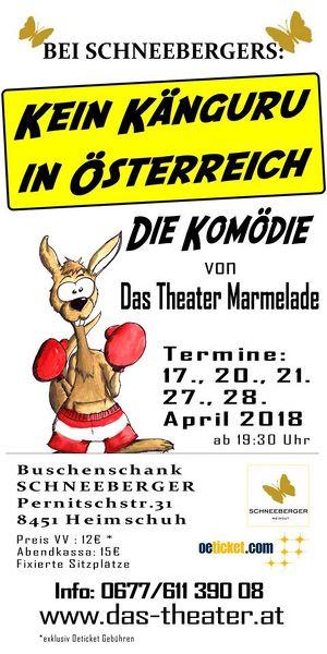 """Komödie: """"Kein Känguru in Österreich"""" PREMIERE"""