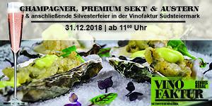 Champagner, Premium Sekt & Austern