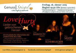 GenussSpiegel präsentiert: LOVE HURTS - Lieder von gebrochenen Herzen.
