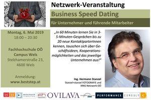 Business Speed Dating für Unternehmer und führende Mitarbeiter