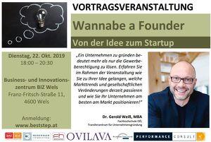 Wannabe a Founder - Von der Idee zum Startup