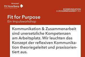 Fit for Purpose – Ein Impulsworkshop