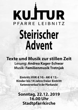 Kultur Pfarre Leibnitz - Steirischer Advent
