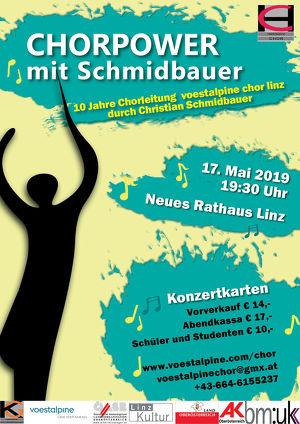 CHORPOWER mit Schmidbauer - Frühjahrskonzert des voestalpine chor linz
