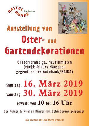 Ausstellung von Oster- und Gartendekorationen