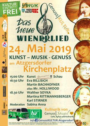 GenussSpiegel präsentiert: GenussKULTUR am Atzgersdorfer Kirchenplatz - Das Neue Wienerlied - EINTRITT FREI