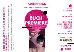 """KARIN RICK – Buchpremiere """"Ladys, Lust & Leidenschaft"""""""