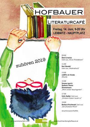 """Literaturcafé """"zuhören"""" 2019"""