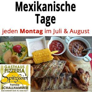 Mexikanische Tage beim Gasthaus Schallhammer in Kaindorf