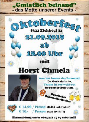 Oktoberfest bei Gmiatlich beinand in Eichkögl