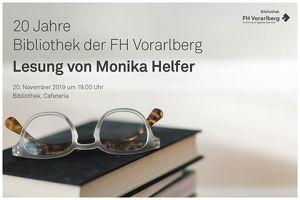 20 Jahr Bibliothek an der FH Vorarlberg – Lesung Monika Helfer