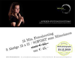 SPEED-Fotoshooting  inkl. 3 Fotos SOFORT zum Mitnehmen