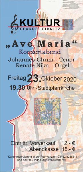 Kultur Pfarre Leibnitz - Ave Maria