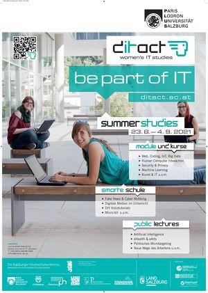Ditact – IT-Sommeruni für Frauen: Restplatzbörse – jetzt anmelden!